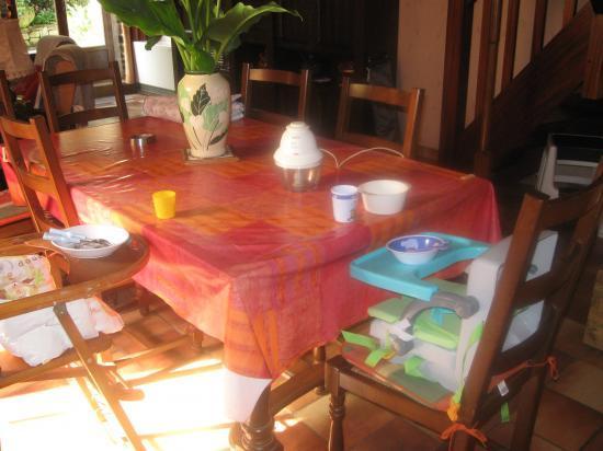 sièges et nécessaires pour les repas